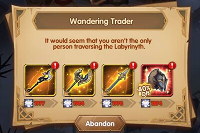 purchasing mythic item in Arcane Labyrinth