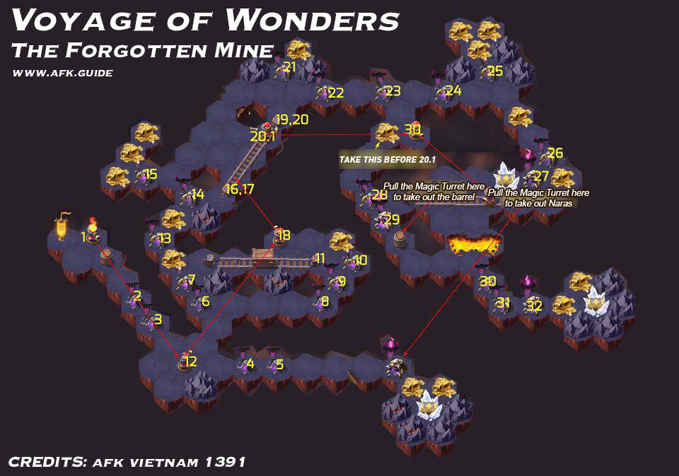 voyage of wonders the forgotten mine map