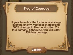 flag of courage afk arena