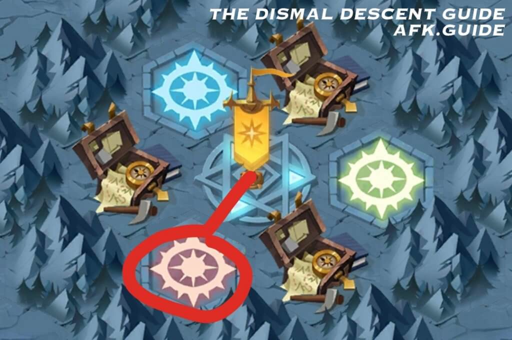 the dismal descent map afk arena