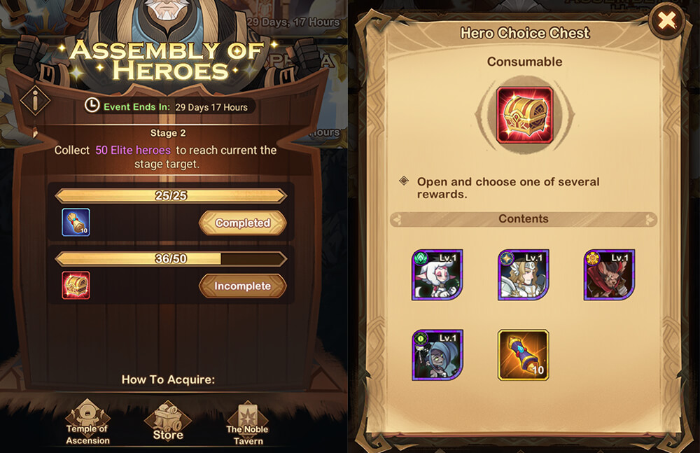 assembly of heroes event