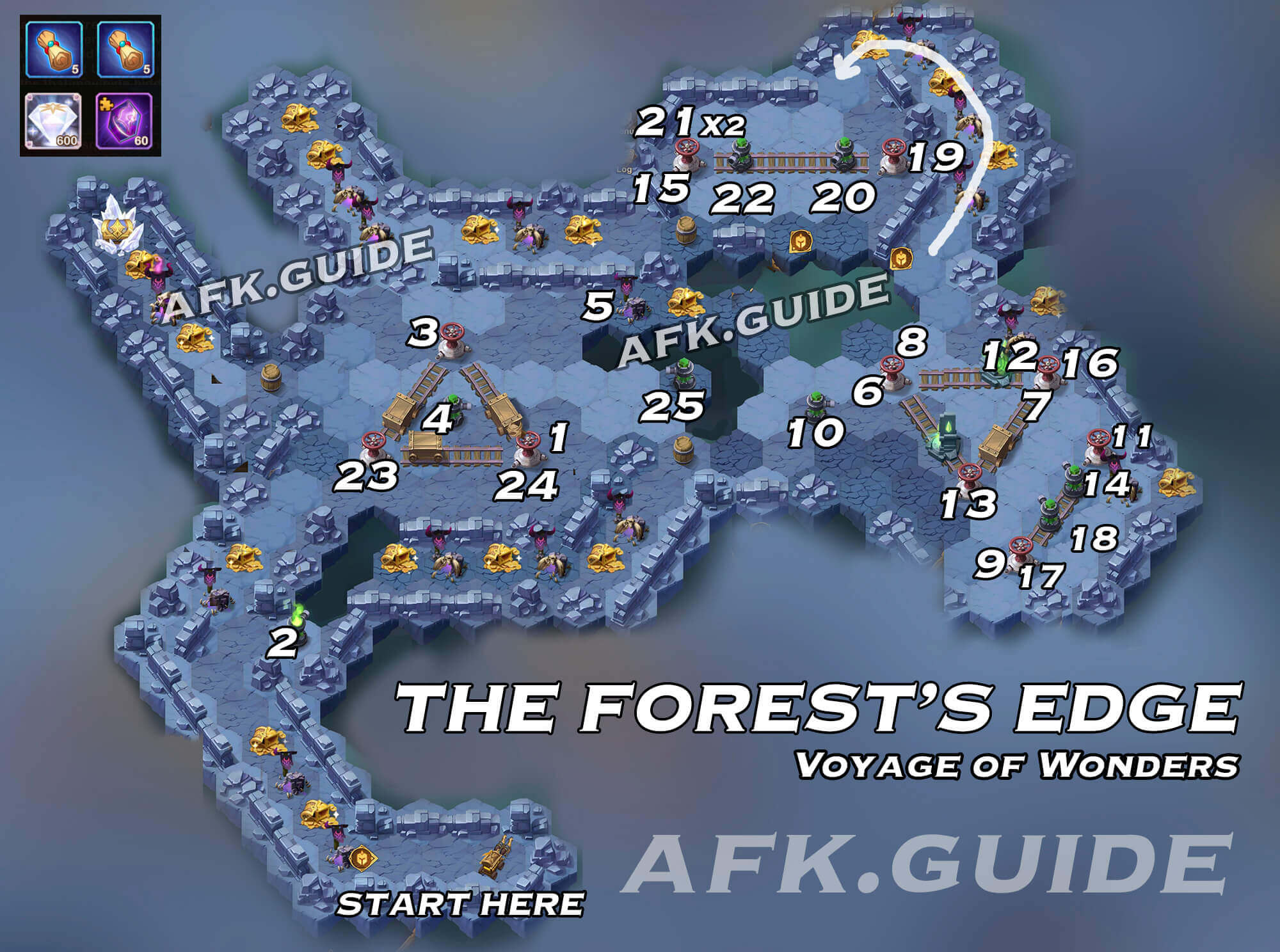 Voyage of Wonders Guide & Map: The Forest's Edge