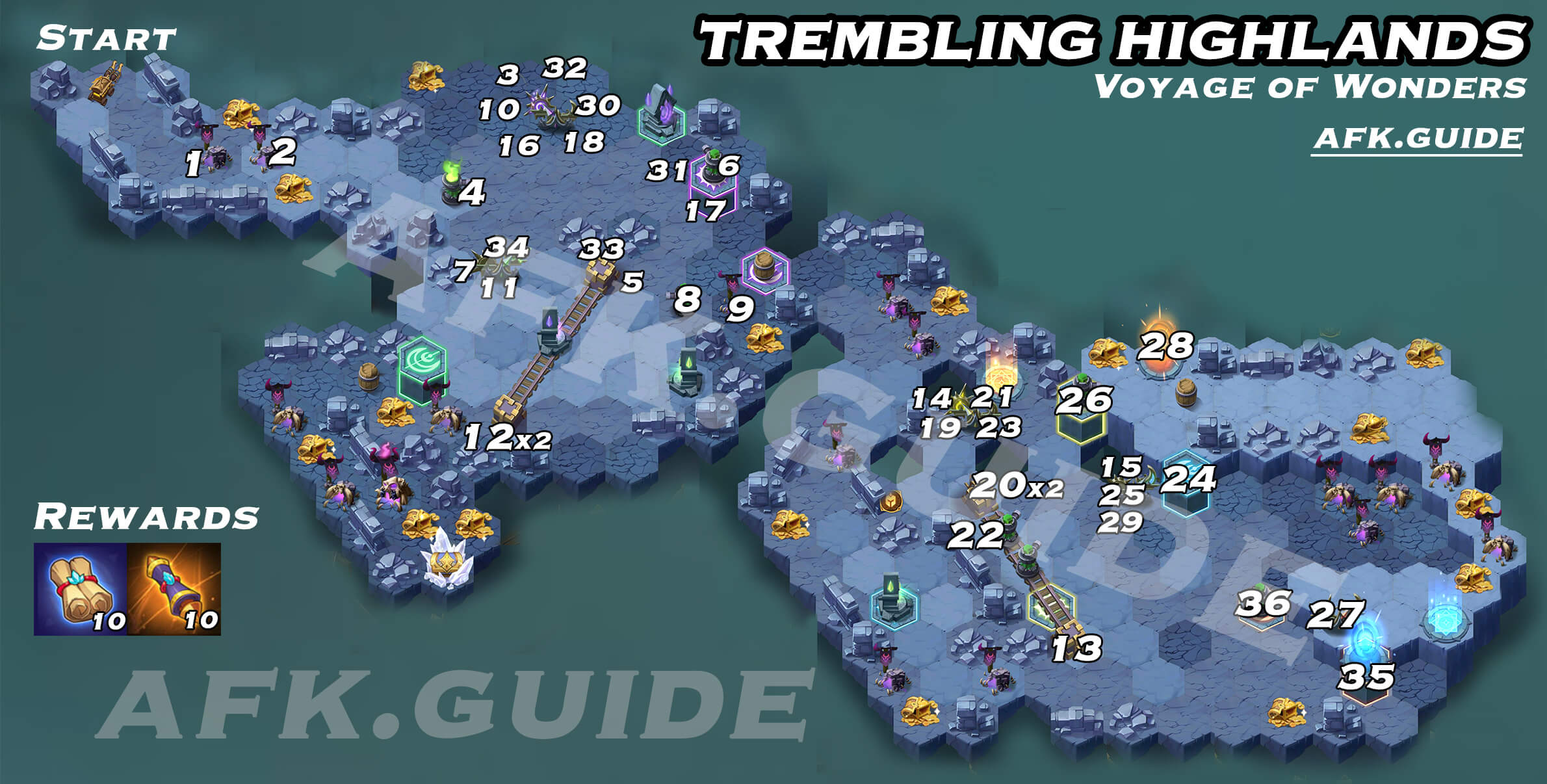 Trembling Highlands Voyage of Wonders Map AFK Arena