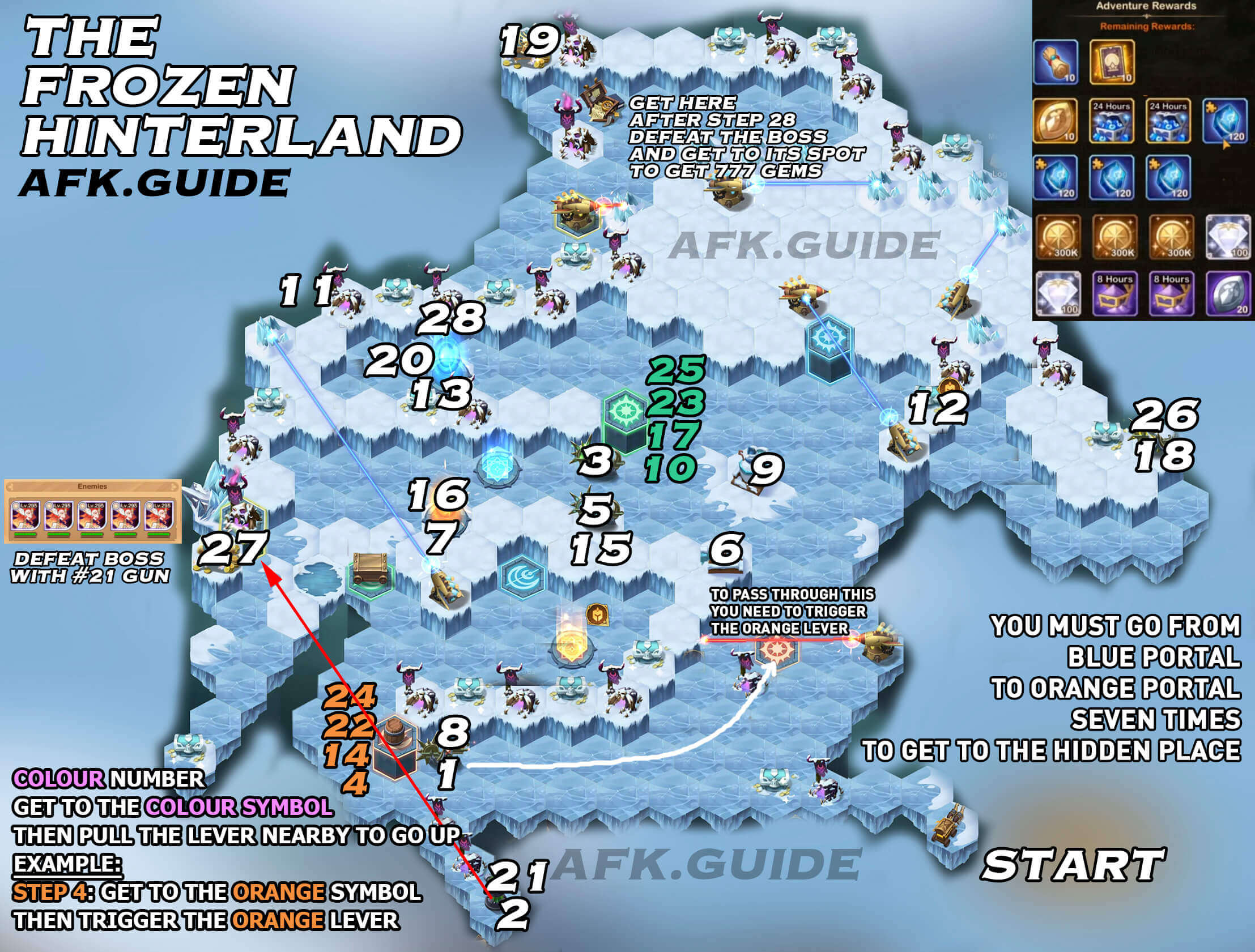 Voyage of Wonders Guide & Map: The Frozen Hinterland