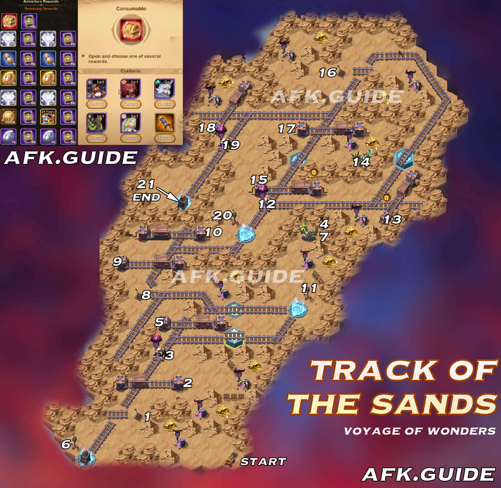 track of the sands afk arena voyage of wonders