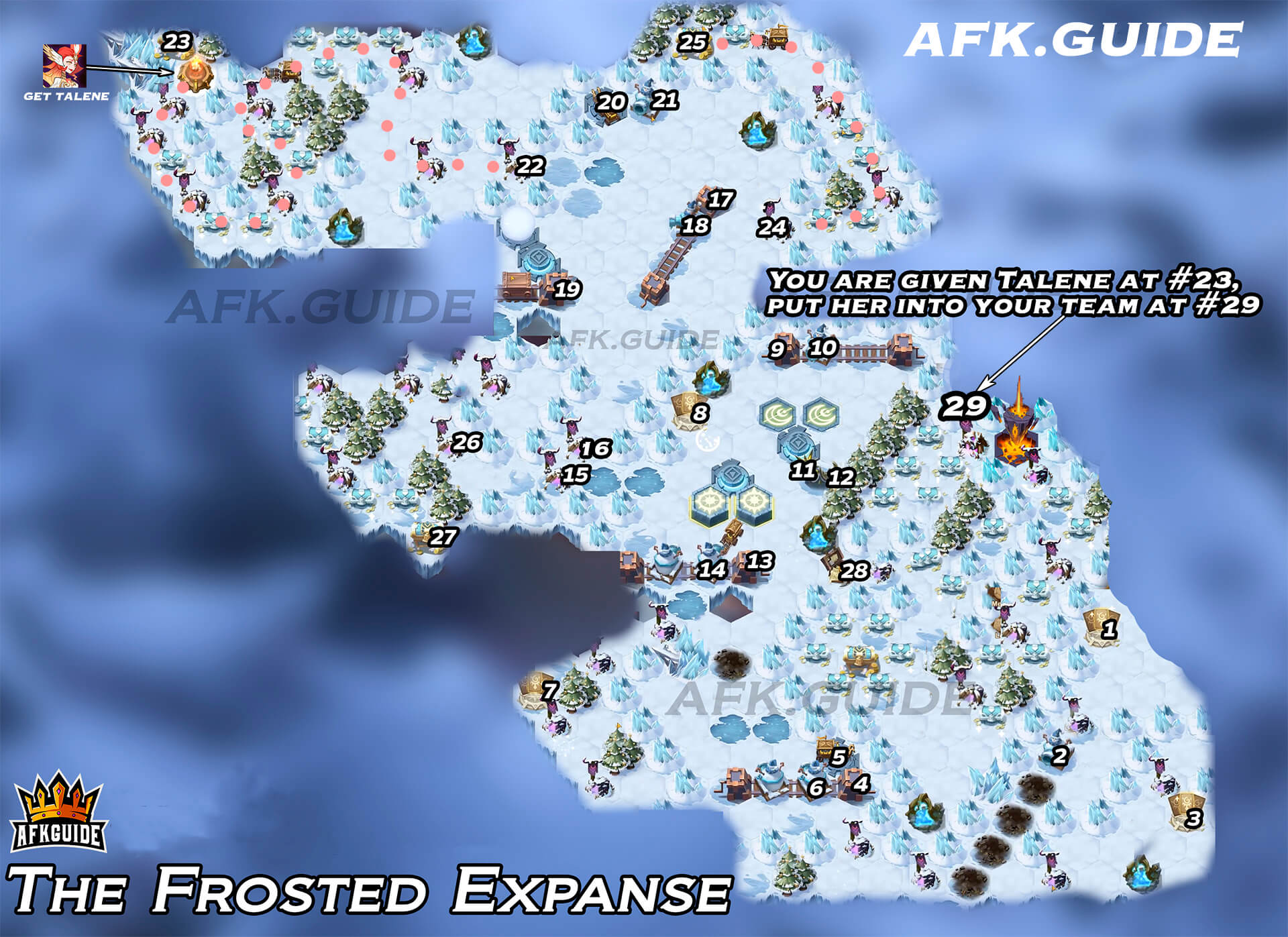 the frosted expanse map update