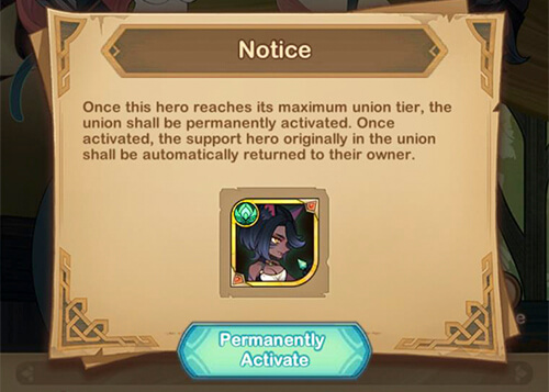 permanently active hero union