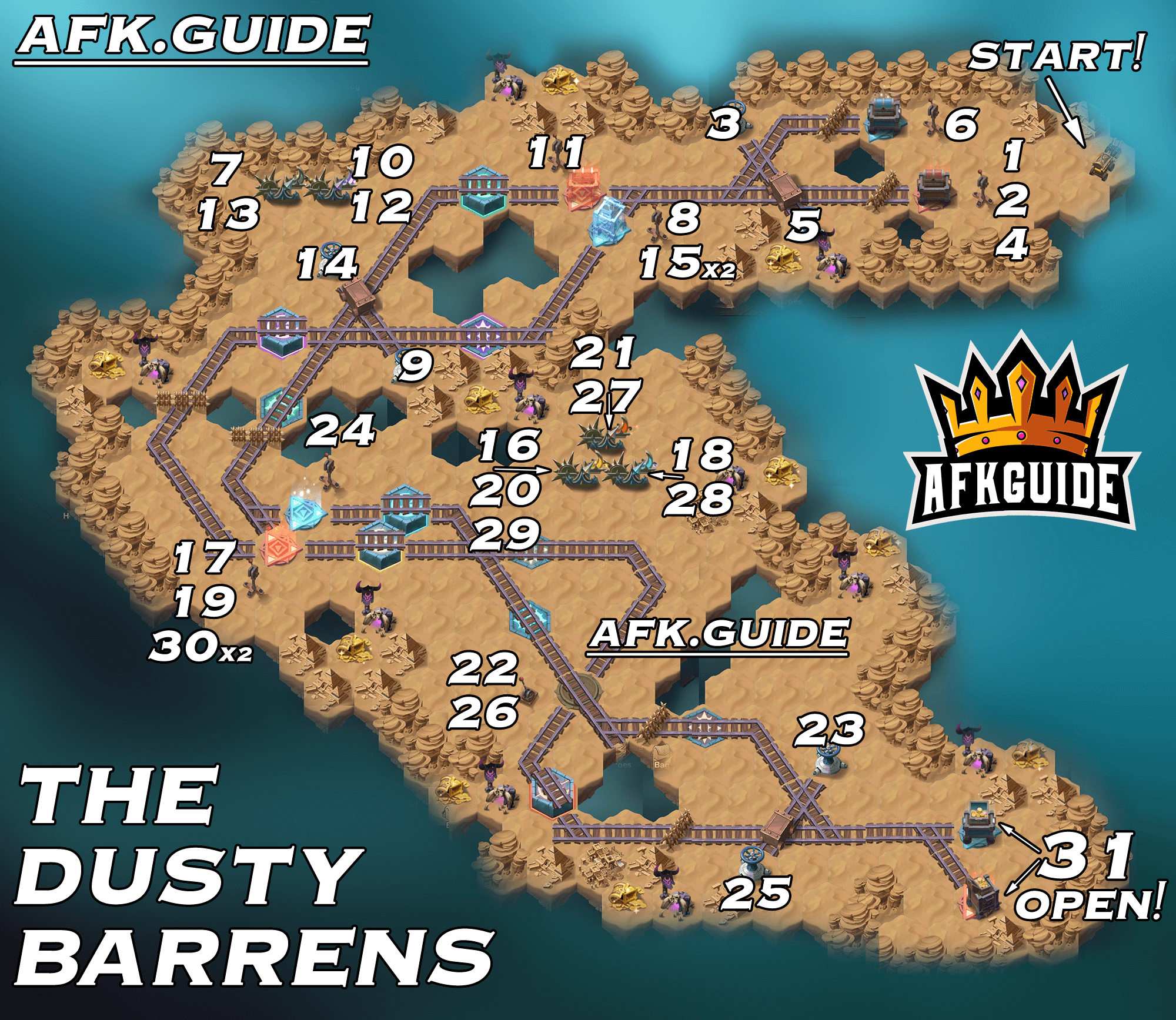 the dusty barrens map guide