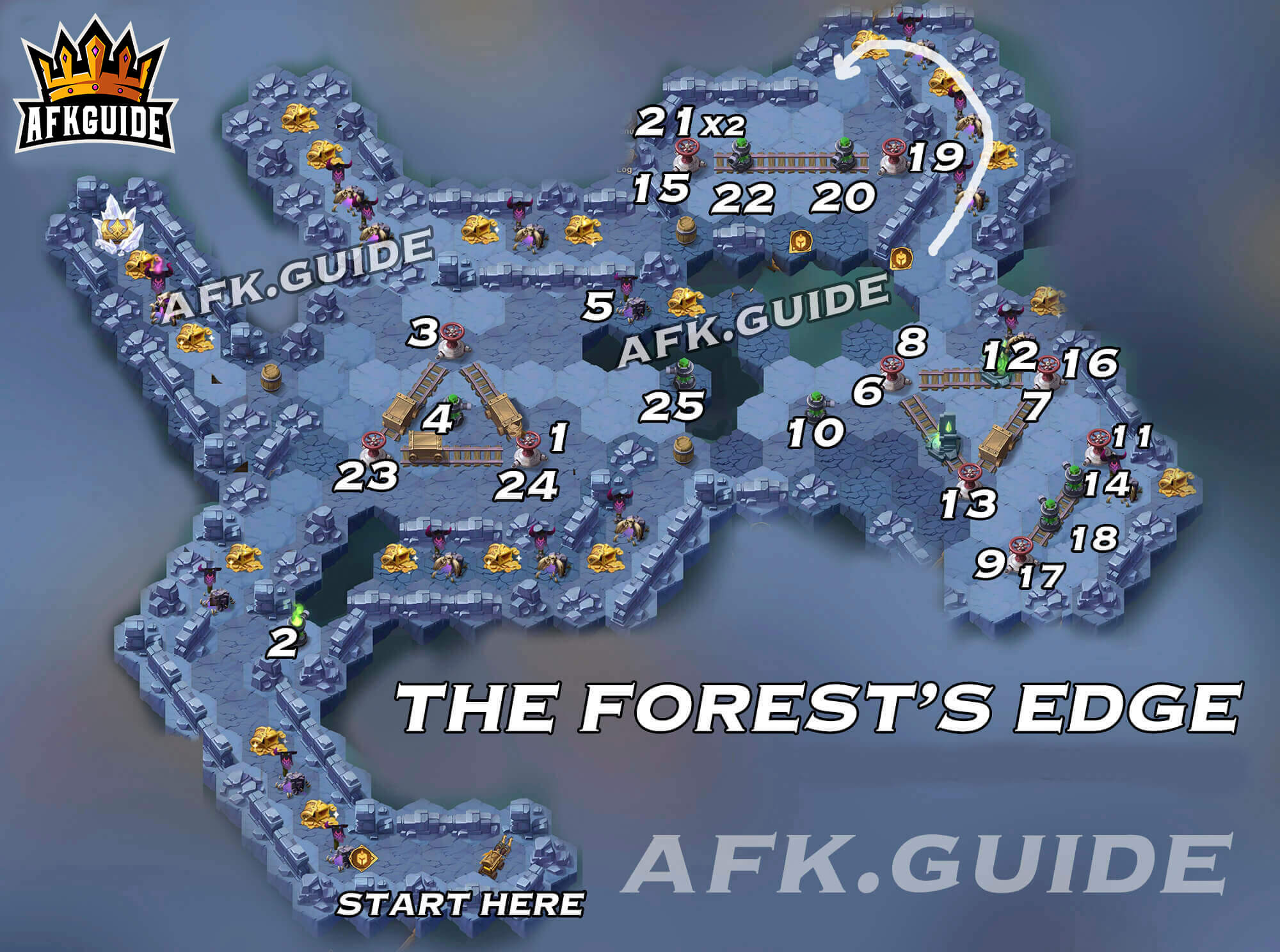 The Forest's Edge Map (Peaks of Time / Wandering Balloon)
