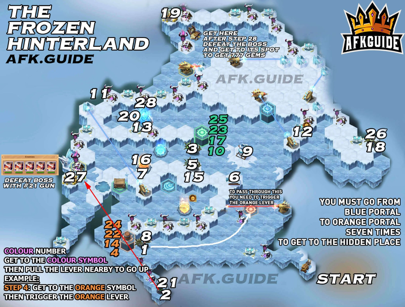 The Frozen Hinterland Map Guide
