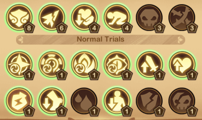 recommended trials for the depths of time