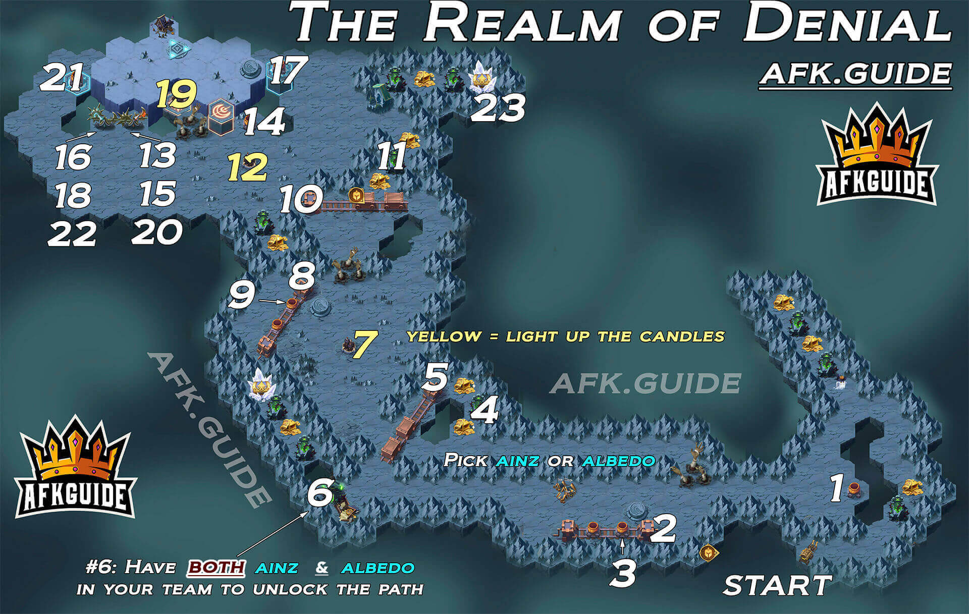 realm of denial map afk arena
