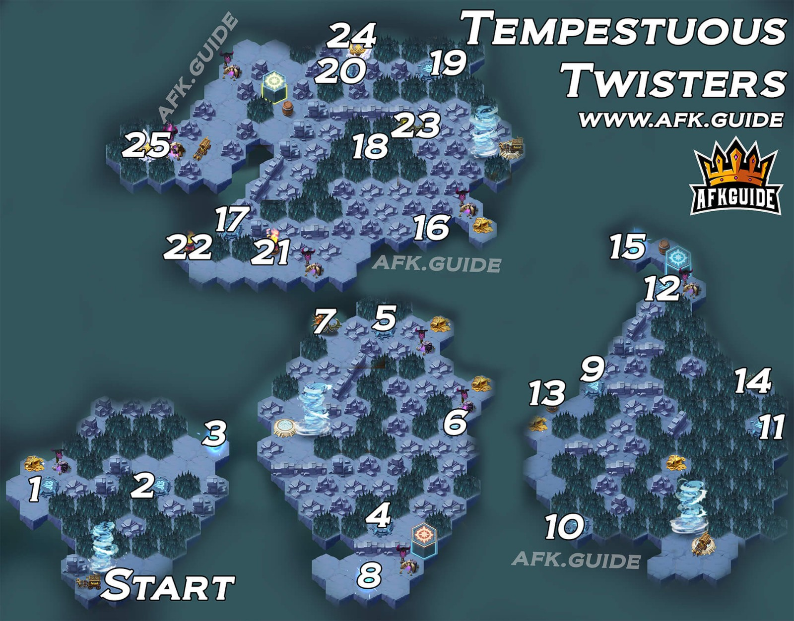 tempestuous twisters afk arena map voyage of wonders