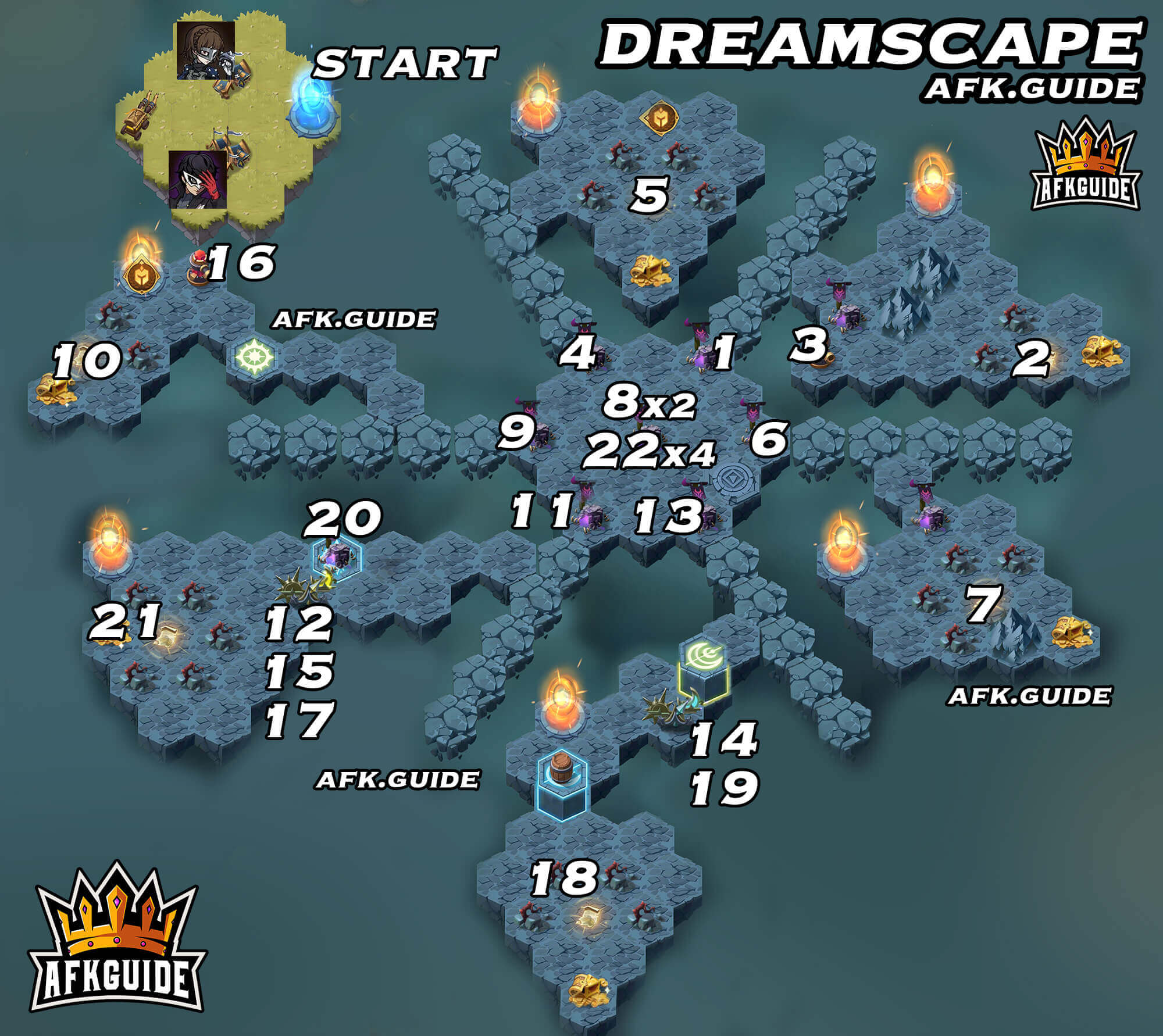 dreamscape map afk arena voyage of wonders
