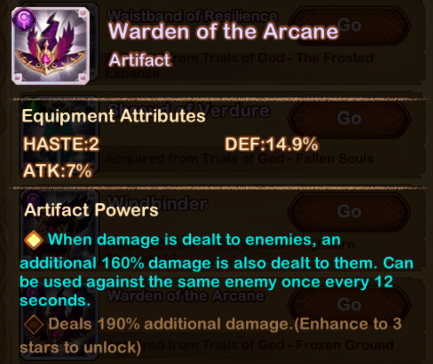 warden of the Arcana artifact