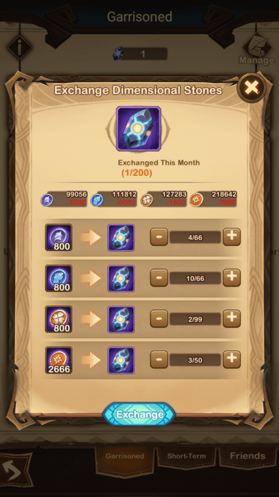 Exchange for Dimensional Stones