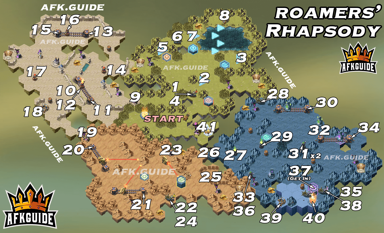 roamers rhapsody map guide