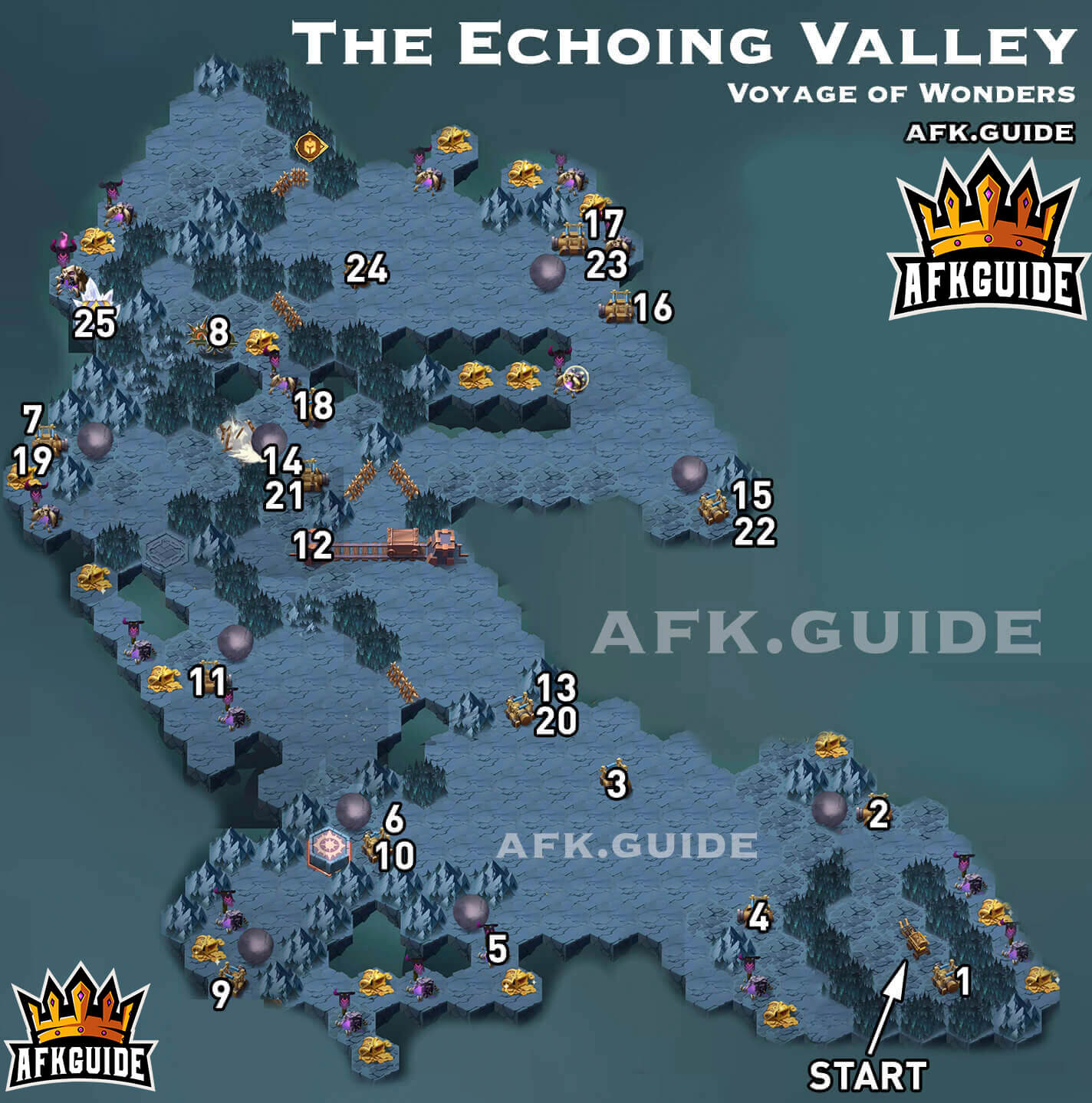 the echoing valley map