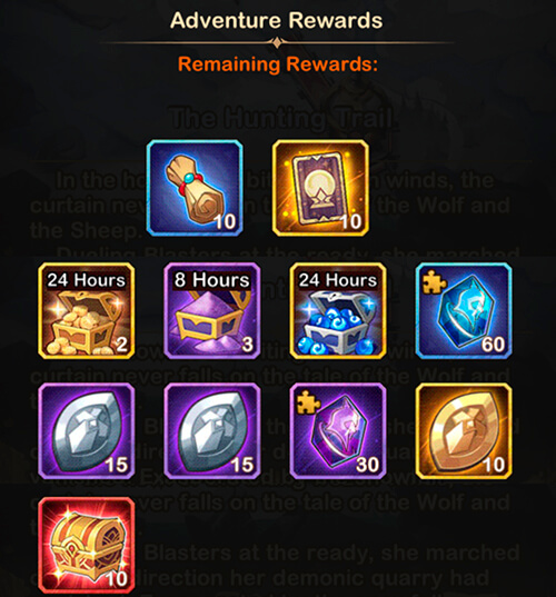the hunting trail rewards