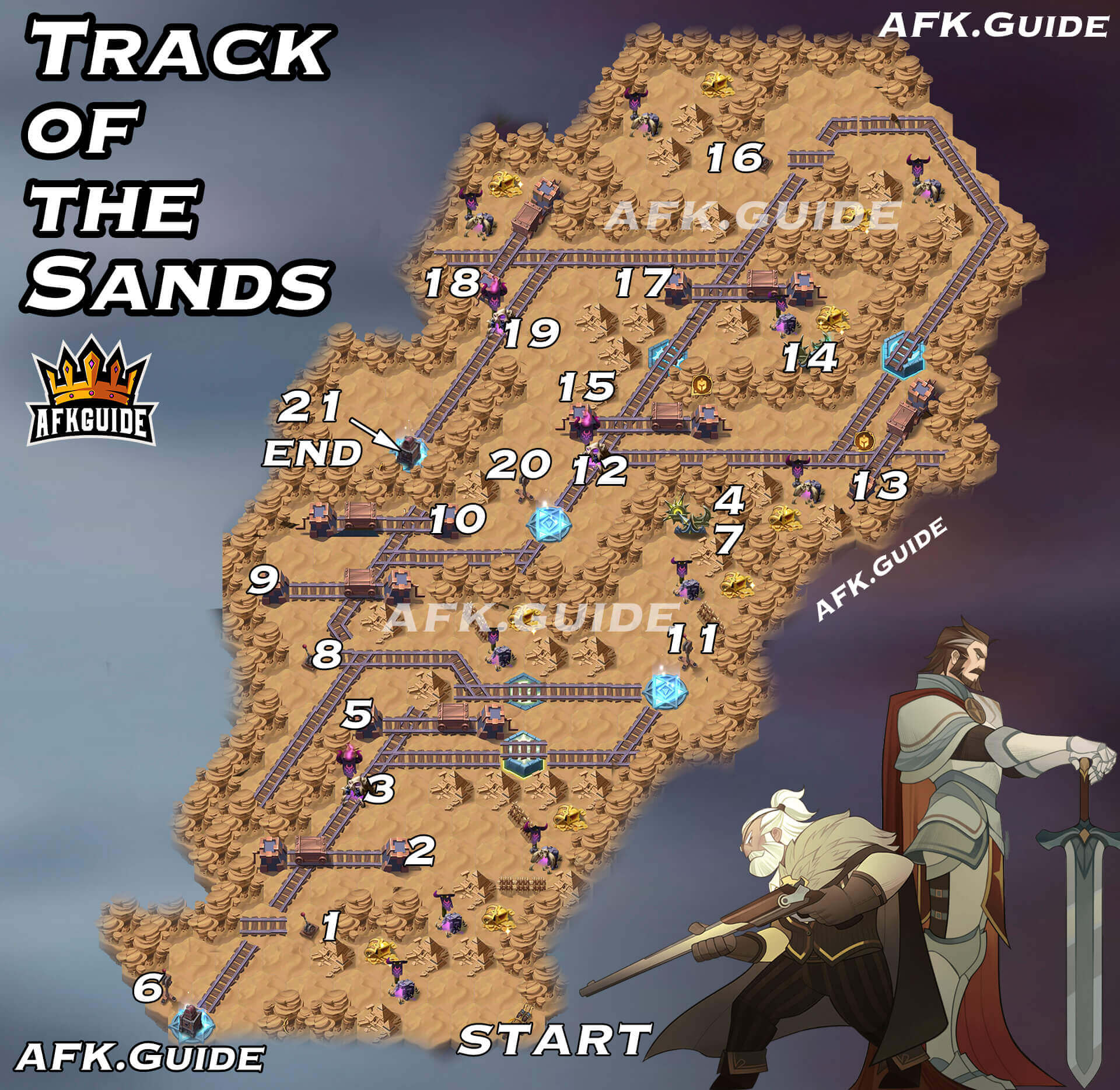 track of the sands map afk arena