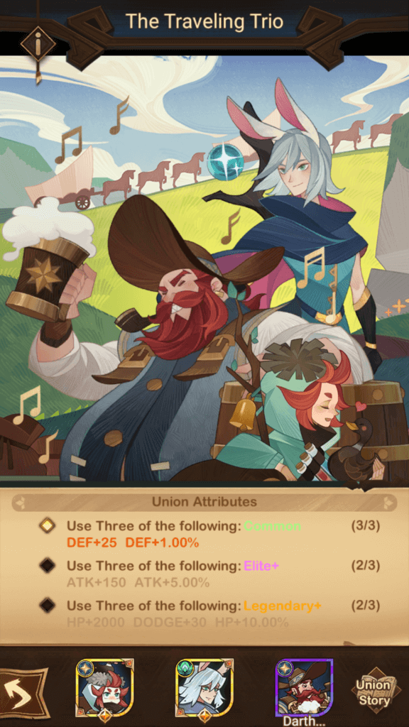 The Traveling Trio Union AFK Arena