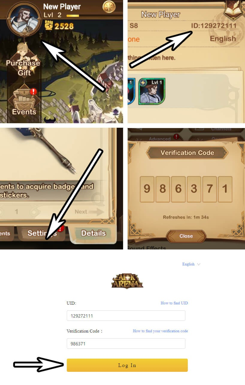 how to use afk arena code website