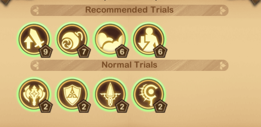 Echoing Valley Recommended Trials